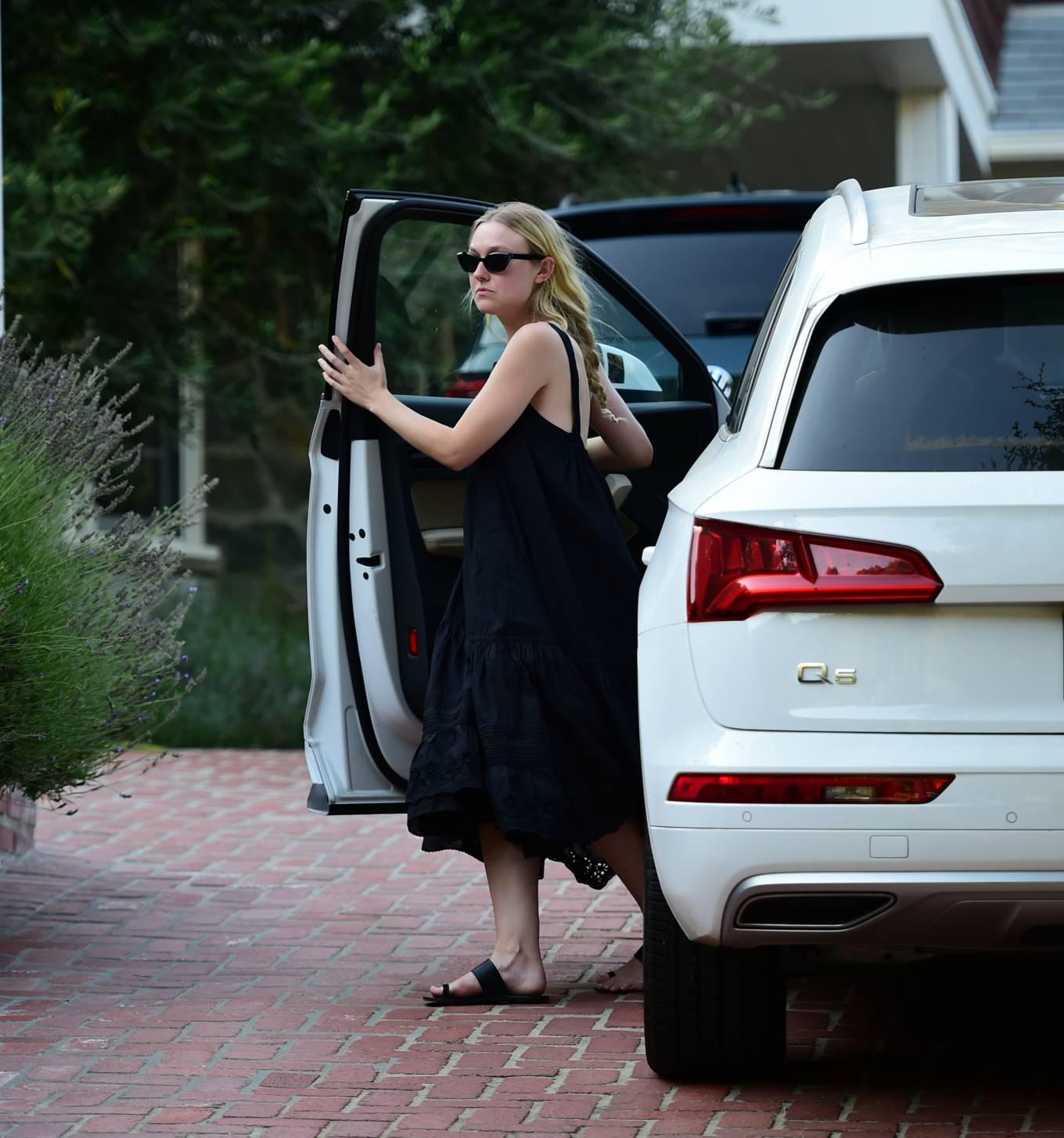 Dakota Fanning 2020 : Dakota Fanning – Out from a car in Los Angeles-13