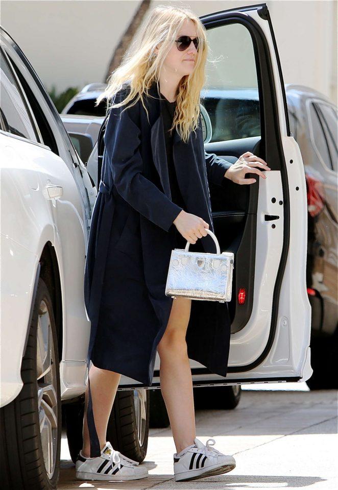 Dakota Fanning out in Los Angeles -08