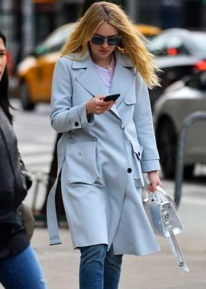 Dakota Fanning Out in New York