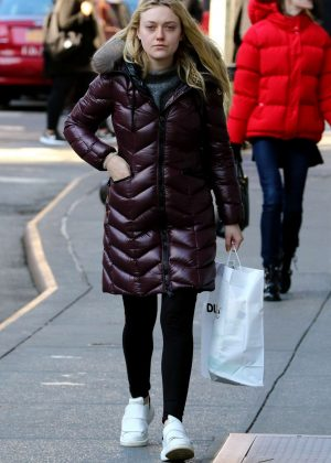 Dakota Fanning out shopping in New York City