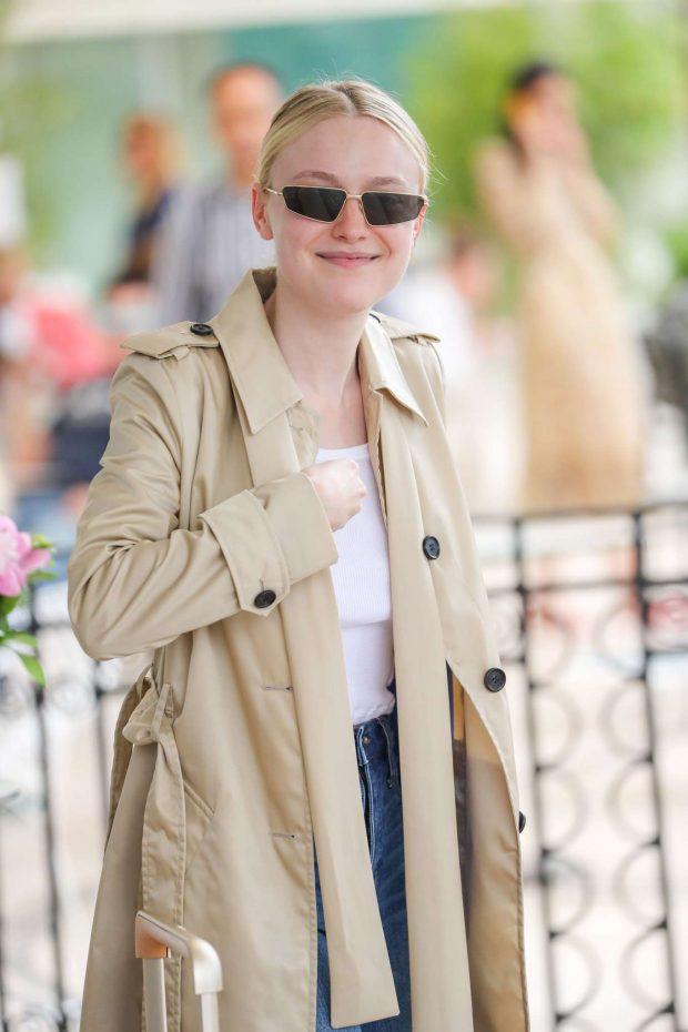 Dakota Fanning - Outside the Martinez Hotel in Cannes