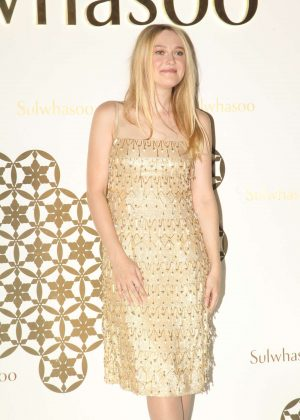 Dakota Fanning - Promotional Event by Sulwhasoo in Hong Kong