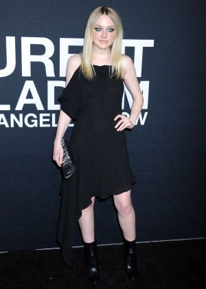 Dakota Fanning - Saint Laurent Show in Los Angeles