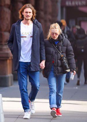 Dakota Fanning with boyfriend out in NYC