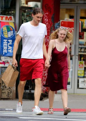 Dakota Fanning with Henry Frye - Out in NYC