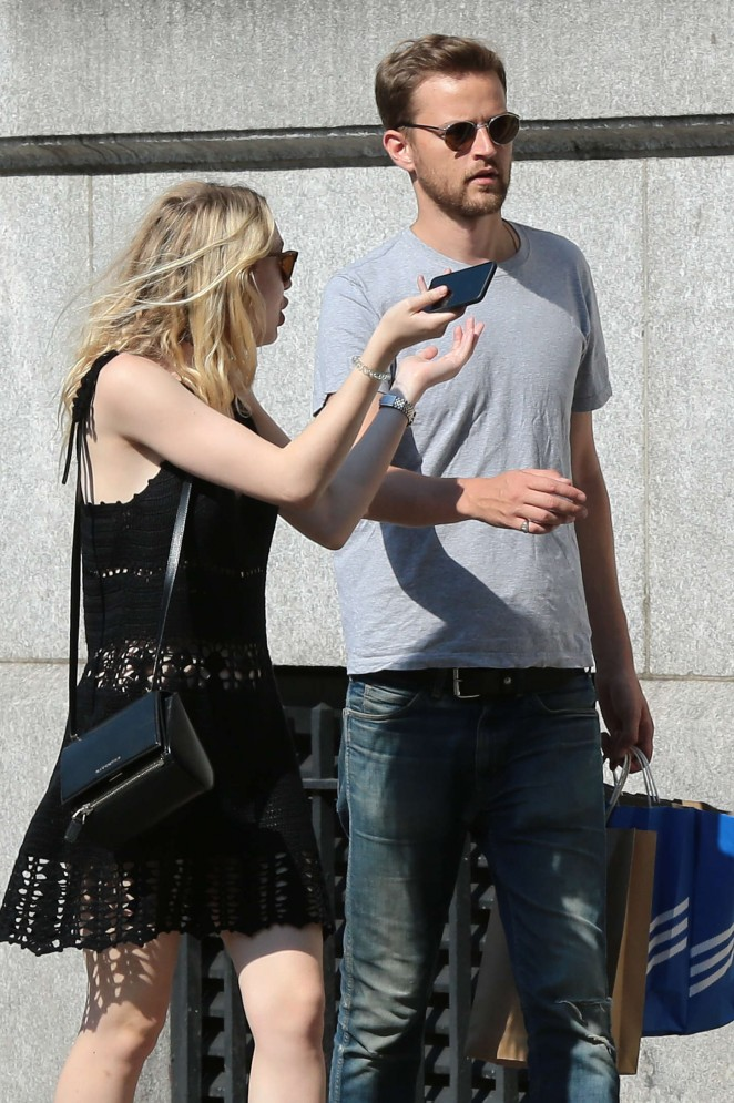 Dakota Fanning with Jamie Strachan Out in NYC