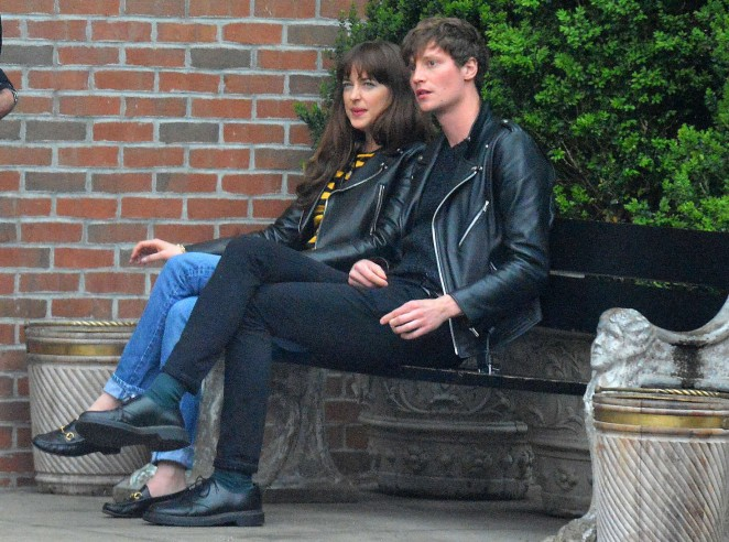 Dakota Johnson and boyfriend Matthew Hitt in New York City -04