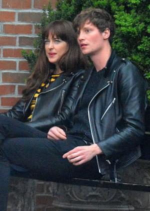 Dakota Johnson and boyfriend Matthew Hitt in New York City