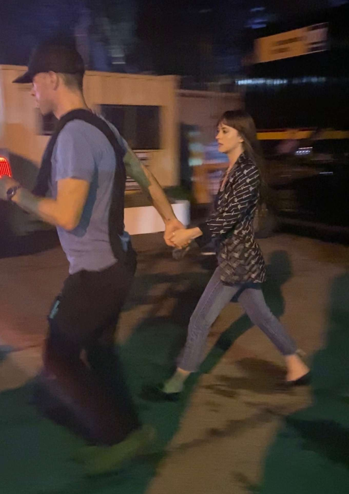 Dakota Johnson and Chris Martin - Exiting the Global Citizen Festival in NYC