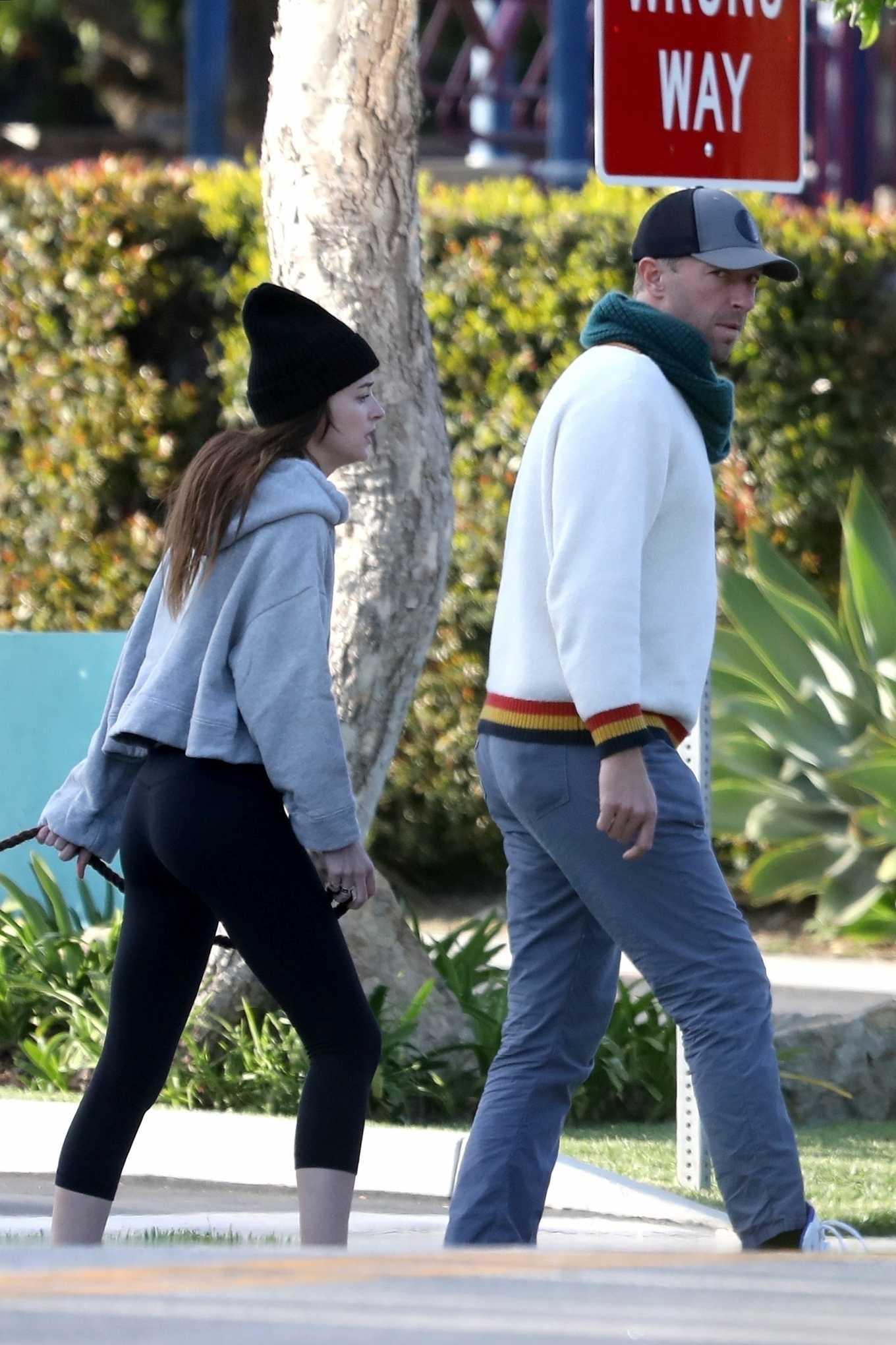 Dakota Johnson 2020 : Dakota Johnson and Chris Martin – step out in Malibu-09