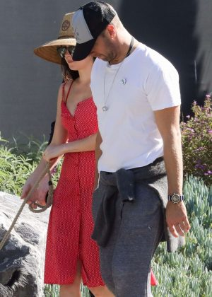 Dakota Johnson and Chris Martin - Take her dog for a walk in Malibu