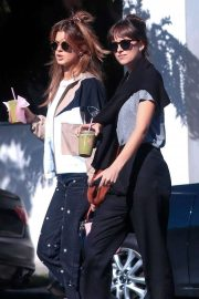 Dakota Johnson and her friend at Cha Cha Matcha in West Hollywood