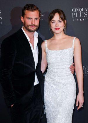 Dakota Johnson and Jamie Dornan - 'Fifty Shades Freed' Premiere in Paris