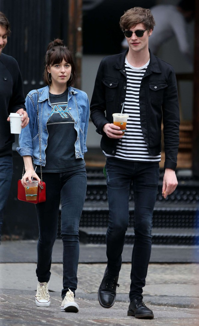 Dakota Johnson and Matthew Hitt Out and about in NYC