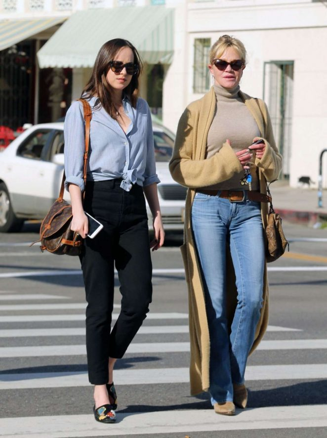 Dakota Johnson and Melanie Griffith out for lunch in Los Angeles