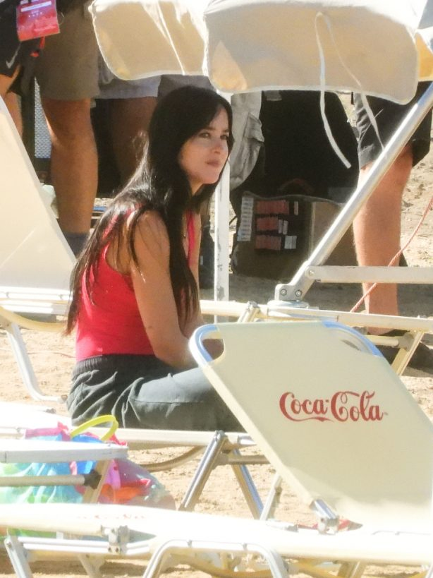 Dakota Johnson and Olivia Colman - 'The Lost Daughter' set In Spetses Island, Grecee