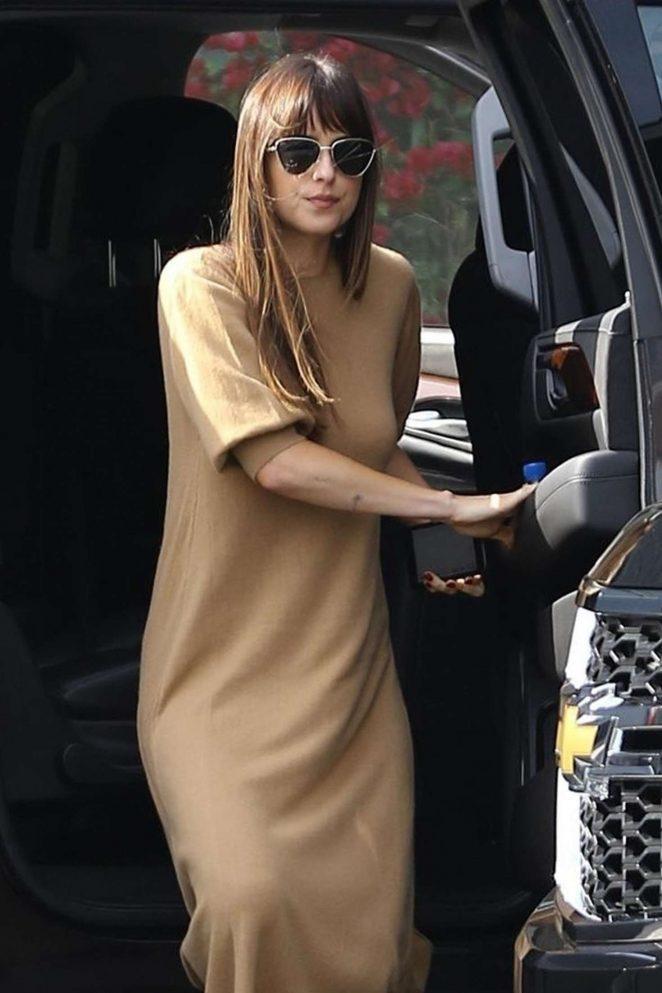 Dakota Johnson - Arrives at a studio in Hollywood