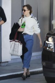 Dakota Johnson - Arrives at a studio in Koreatown, LA