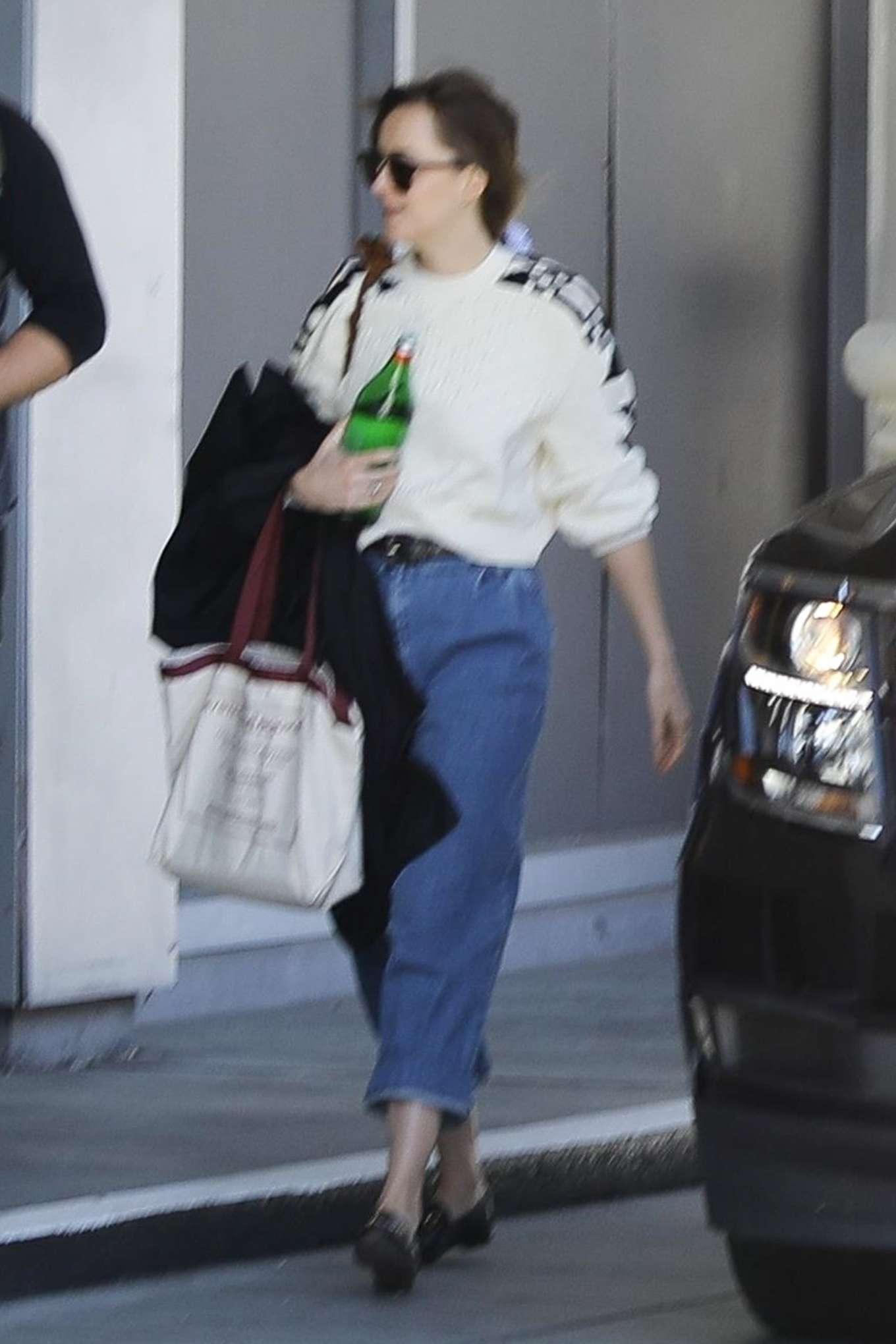 Dakota Johnson - Arrives at a studio in Koreatown, LA