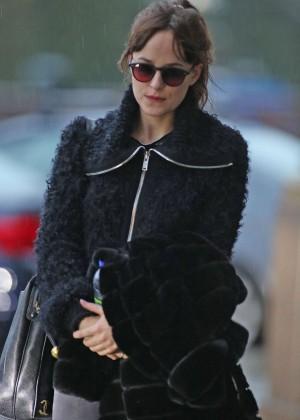 Dakota Johnson - Arrives at Airport in Vancouver
