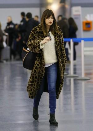 Dakota Johnson at JFK Airport in NYC
