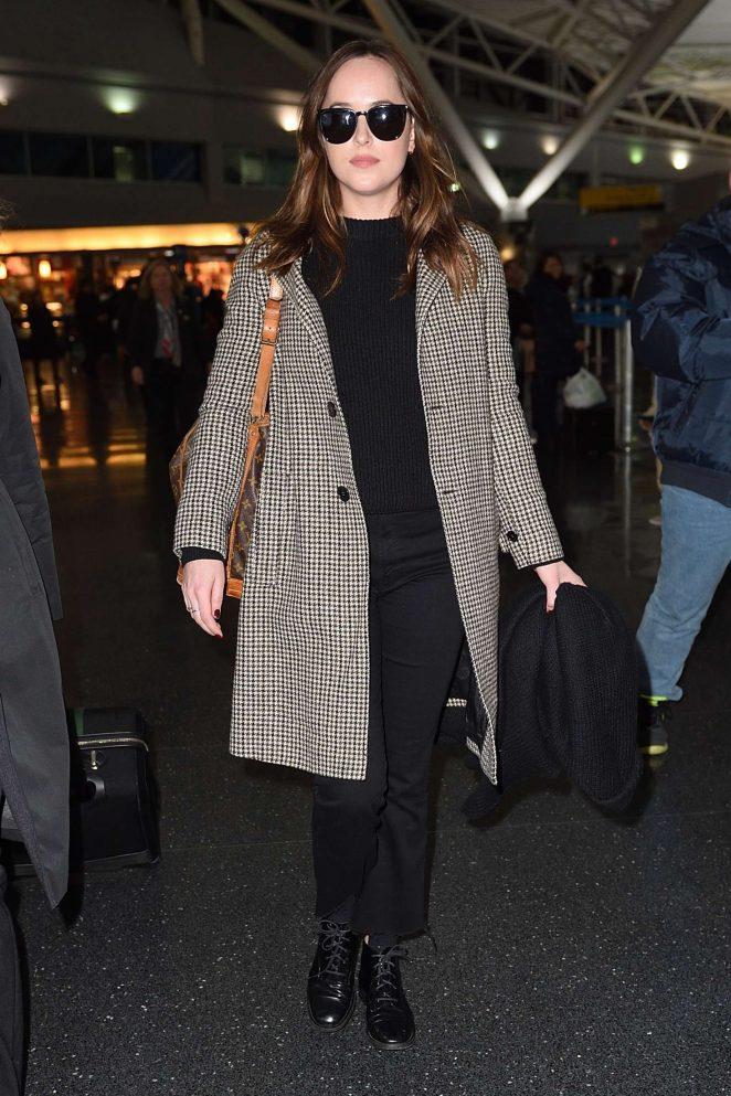 Dakota Johnson - Arrives at JFK airport in NYC