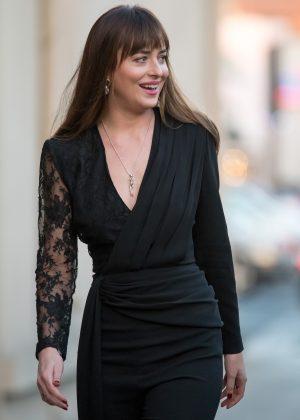 Dakota Johnson - Arrives at Jimmy Kimmel Live in Hollywood