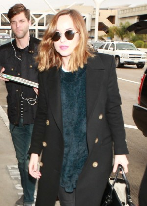 Dakota Johnson - Arrives at LAX Airport in Los Angeles