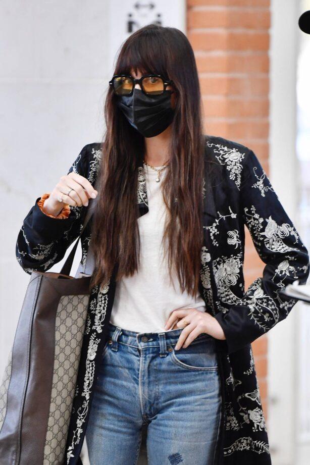 Dakota Johnson - Arrives at Venice's Marco Polo Airport