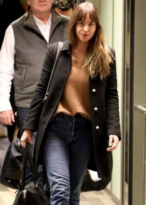 Dakota Johnson - Arrives in Colorado