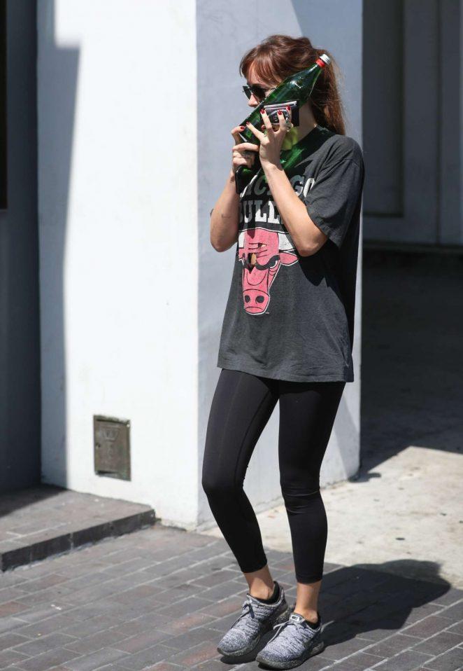 Dakota Johnson - Arrives to the gym in Los Angeles