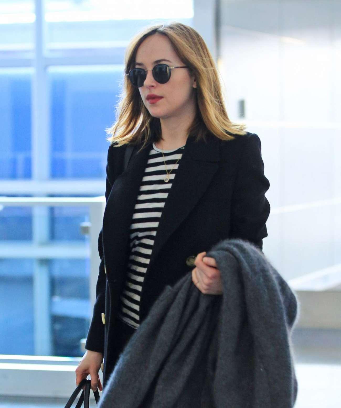 Dakota Johnson 2016 : Dakota Johnson: Arriving at JFK Airport -01