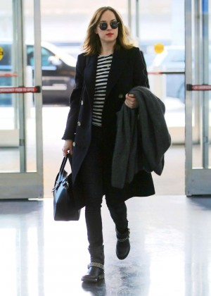Dakota Johnson - Arriving at JFK Airport in LA