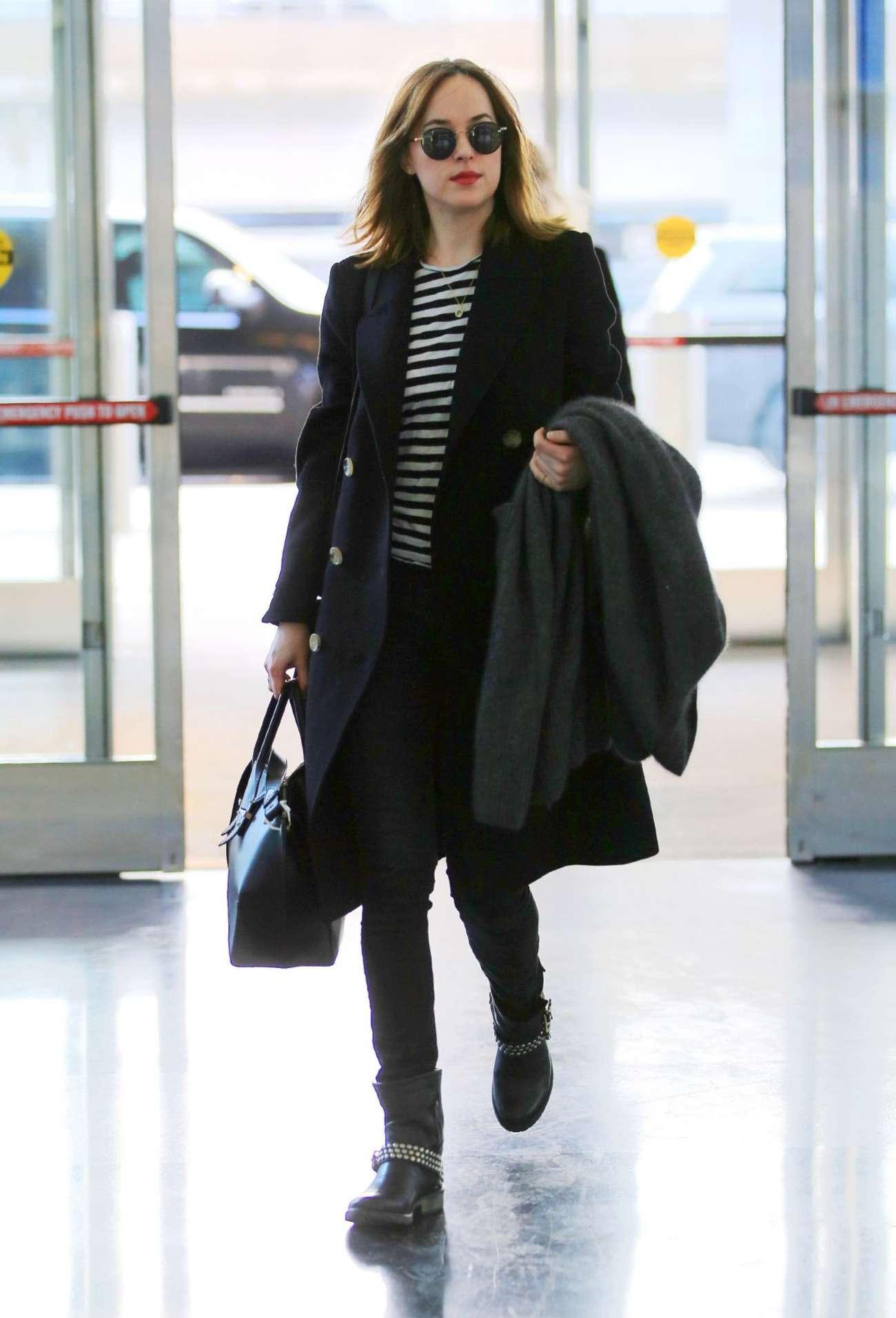 Dakota Johnson - Arriving at JFK Airport in LA