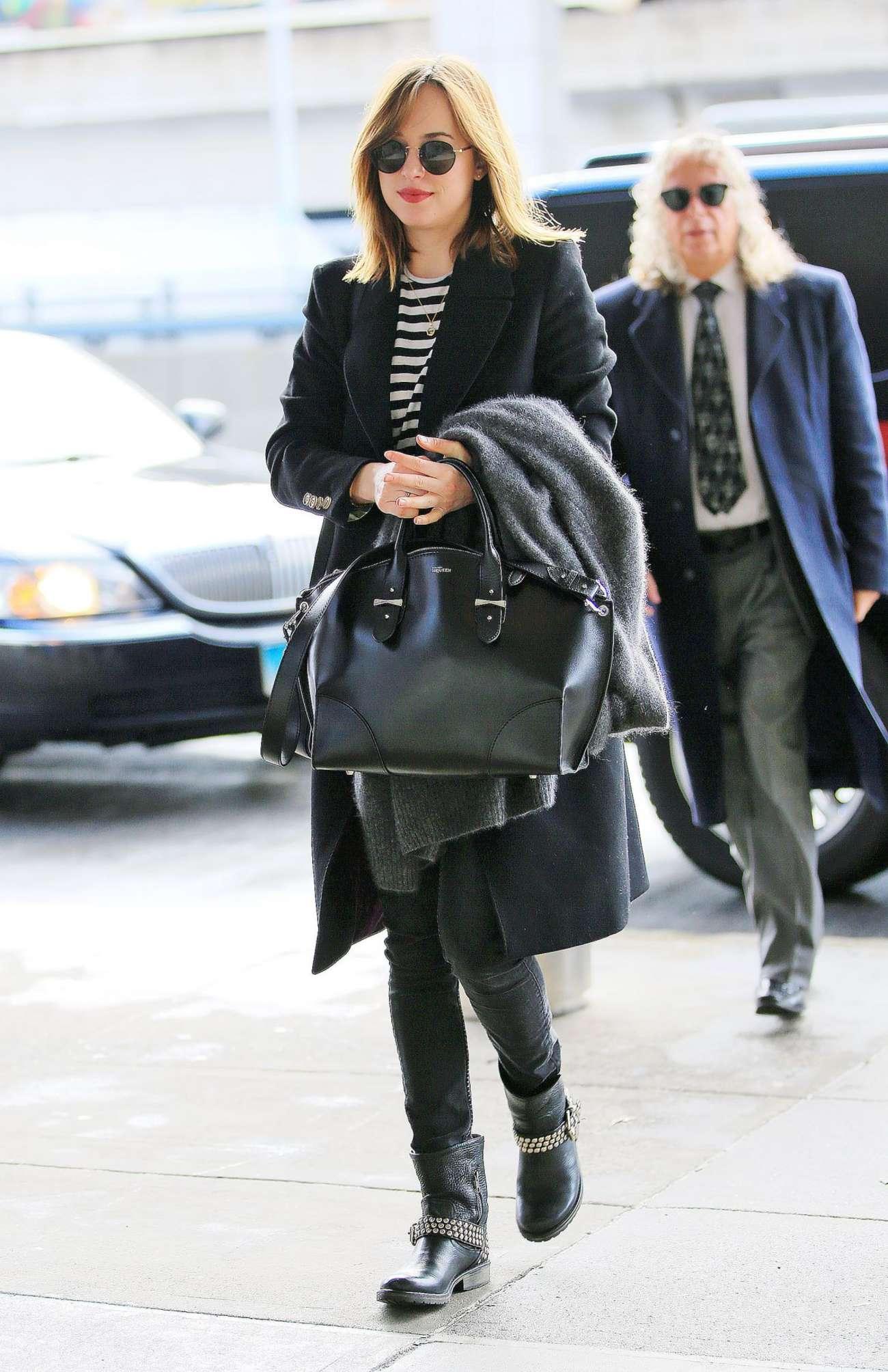 Dakota Johnson 2016 : Dakota Johnson: Arriving at JFK Airport -08