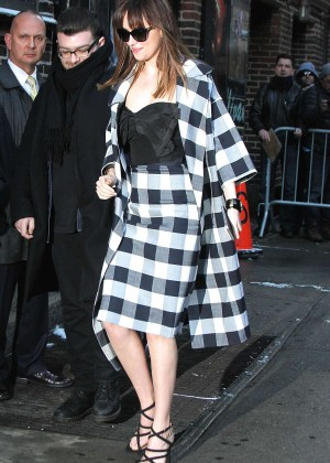Dakota Johnson - Arriving at The Late Show with David Letterman in NYC