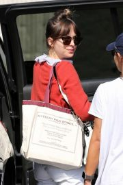 Dakota Johnson - Arriving to work on her new film 'Covers' in Hollywood
