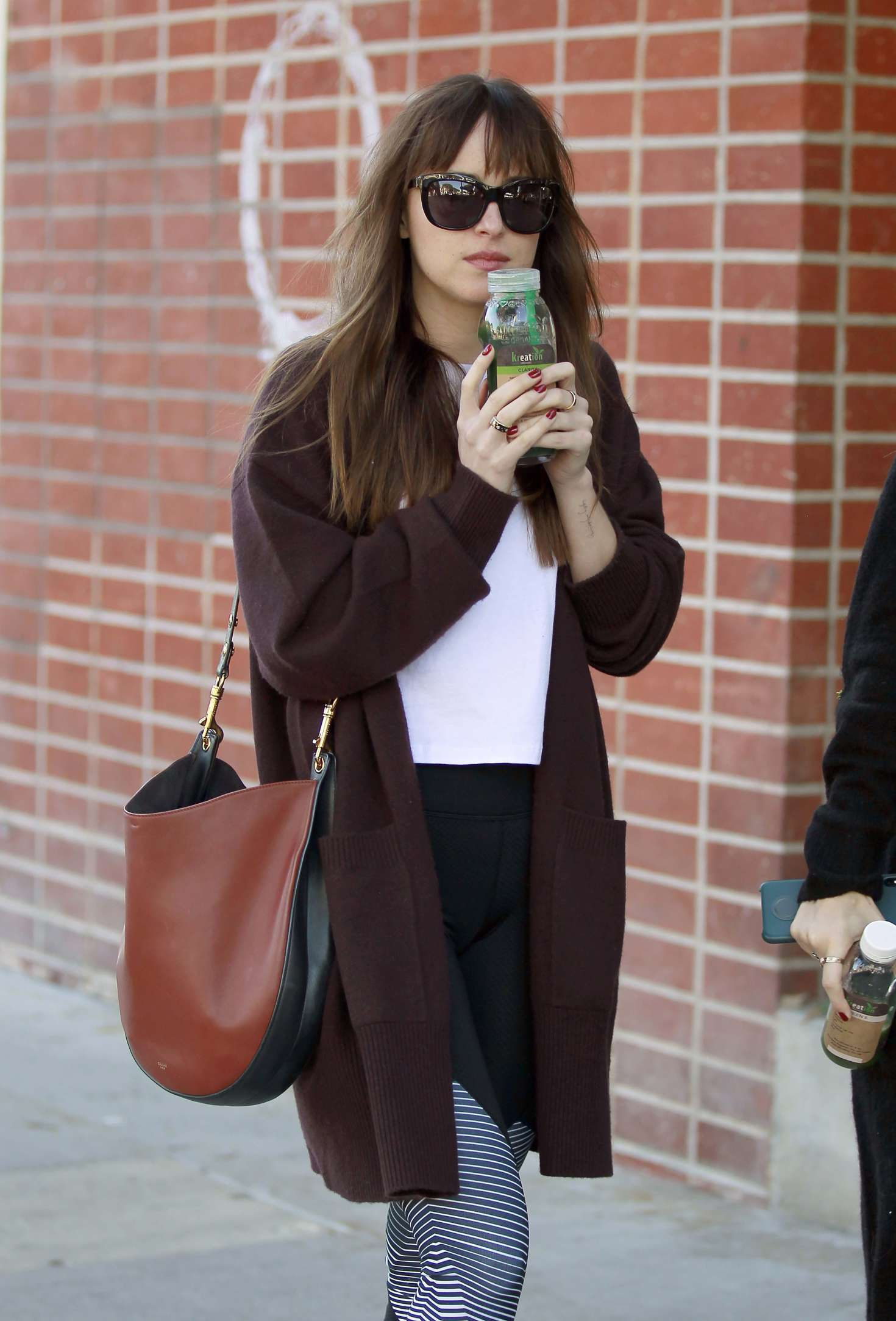 Dakota Johnson at a juice shop in Los Angeles