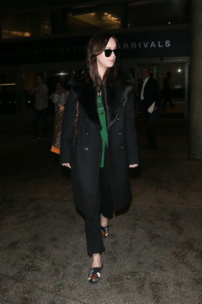 Dakota Johnson at LAX Airport -02