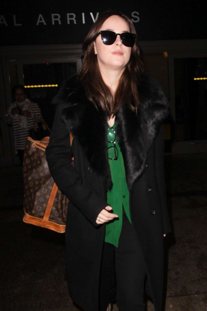 Dakota Johnson at LAX Airport -03