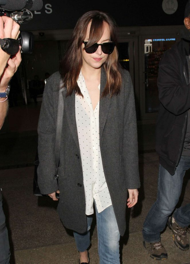 Dakota Johnson at LAX Airport in Los Angeles