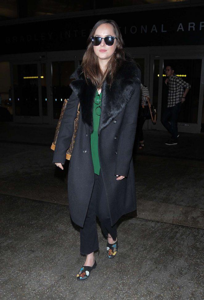 Dakota Johnson at LAX Airport -06