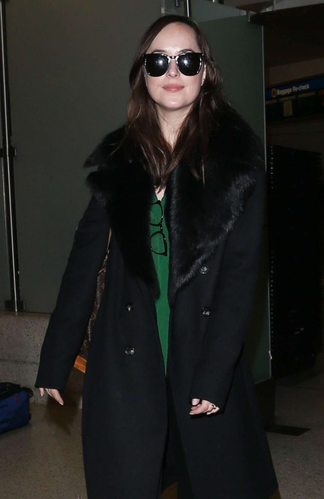Dakota Johnson at LAX Airport -07