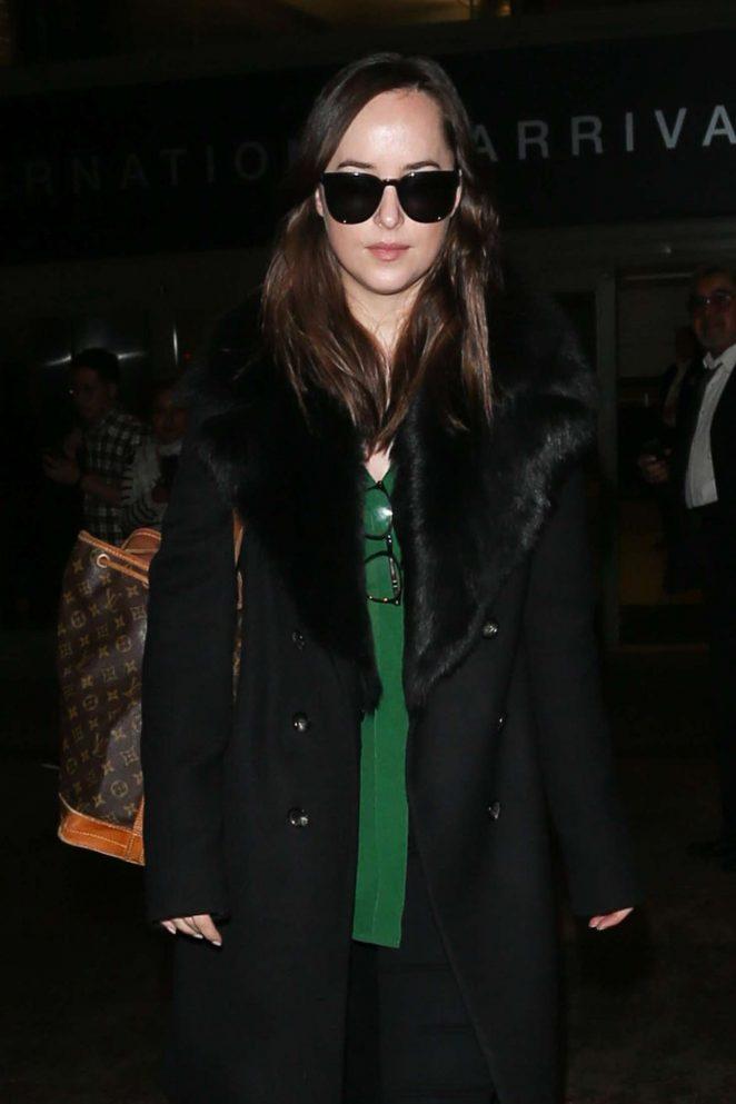 Dakota Johnson at LAX Airport -10