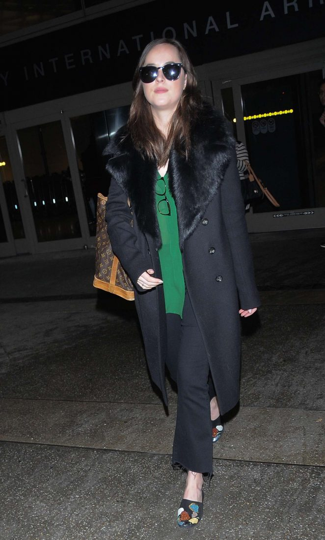 Dakota Johnson at LAX Airport -12