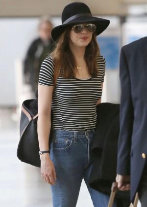 Dakota Johnson at LAX airport in Los Angeles