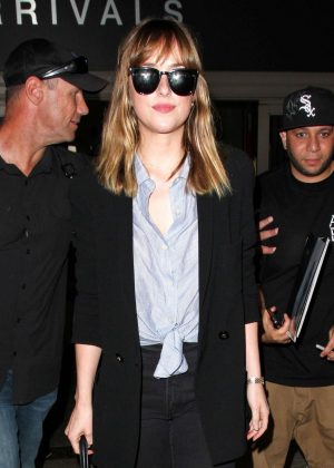 Dakota Johnson at LAX in Los Angeles