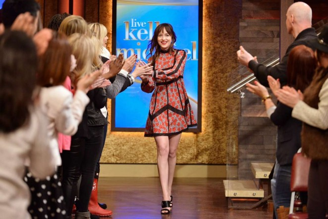 Dakota Johnson at 'Live with Kelly & Michael' in NYC