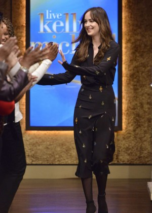 Dakota Johnson at Live with Kelly & Michael in New York