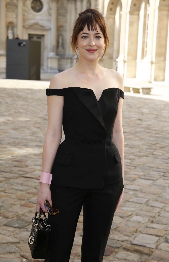 Dakota Johnson - Christian Dior Fashion Show 2015 in Paris